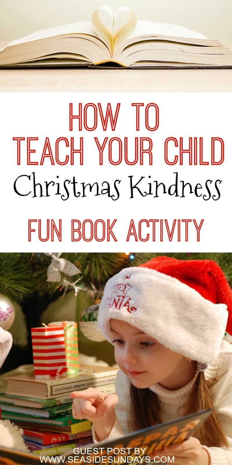 Teach your child kindness with Christmas Library Letters. This is a great activity to do with preschoolers and children of any age. #randomactsofkindness #forkids #library #activitiesforkids via @wondermomwannab