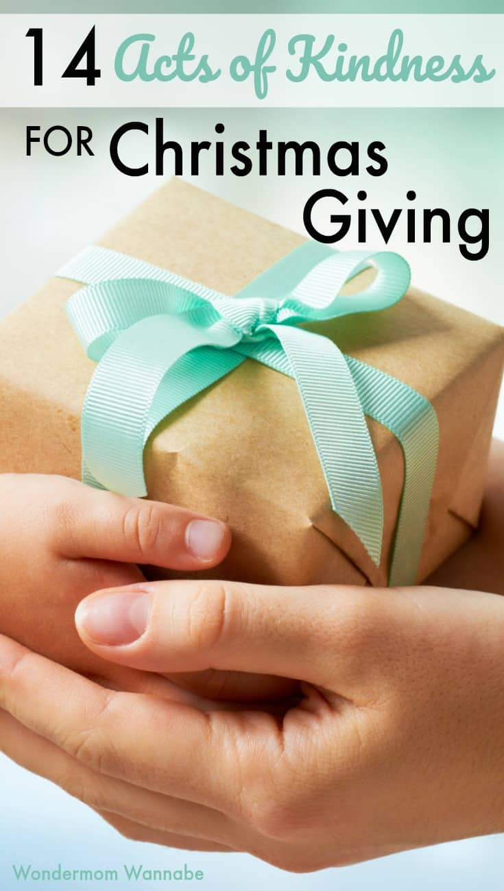 Giving to others is a rewarding way to celebrate the holiday season. These 14 random acts of kindness encourage meaningful Christmas giving.
