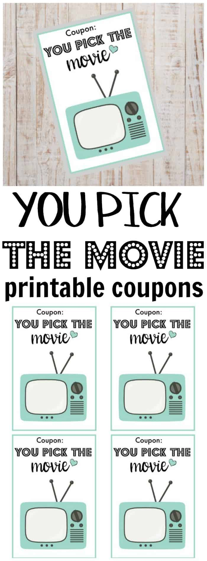 Doing random acts of kindness for your husband is a great way to strengthen your marriage. Grab some free printable You Pick the Movie coupons too! #randomactsofkindness #marriageadvice #marriagetips via @wondermomwannab
