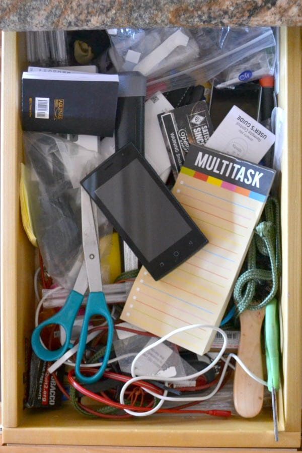 lots of things in a junk drawer
