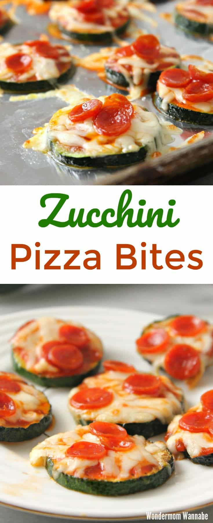 These zucchini pizza bites are so yummy and incredibly easy to make! Way healthier than pizza rolls too! #easyappetizers #snacks
