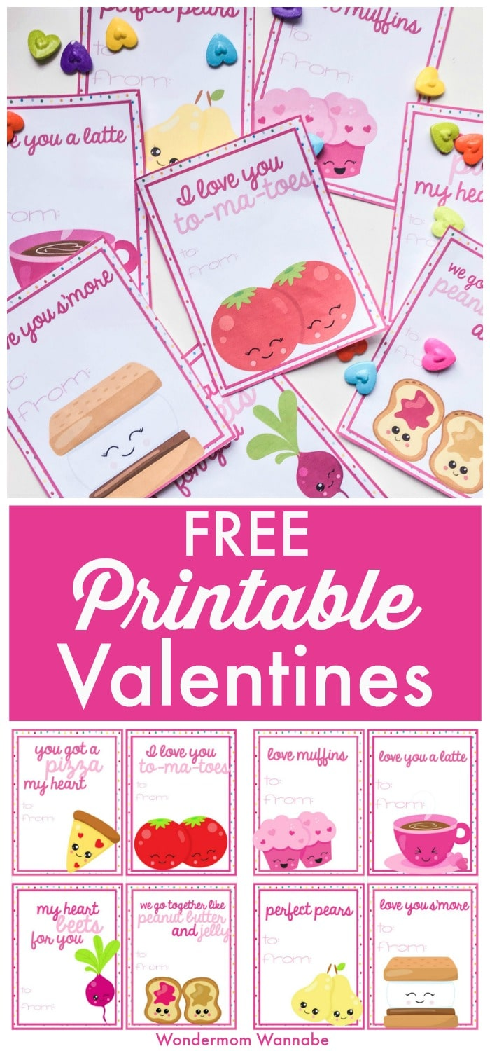 These free printable Valentines are so cute and don't cost a dime! #printables #Valentines