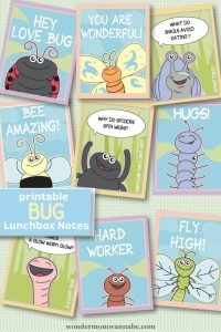 Printable Lunch Notes: Cute Critters