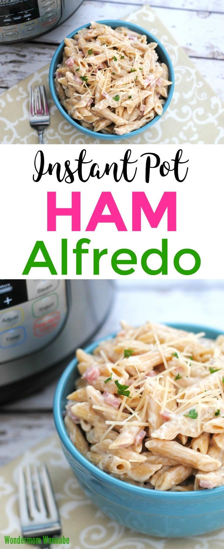 Instant Pot Ham Alfredo pin