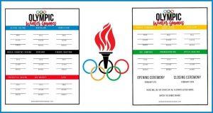 2018 Winter Olympics Medal Tracker
