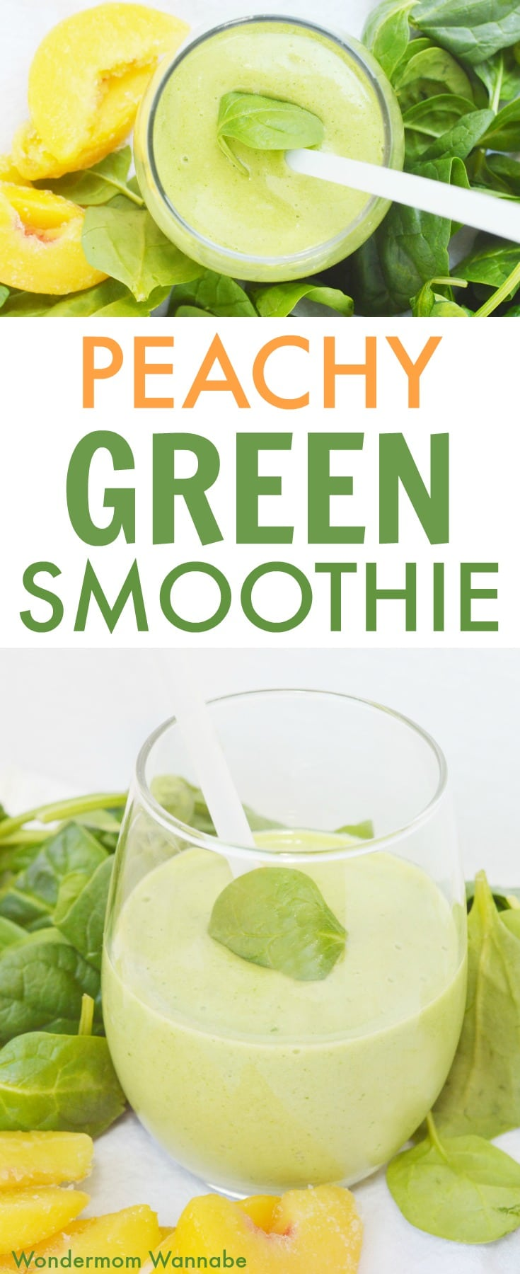 Peach Green Smoothie pin