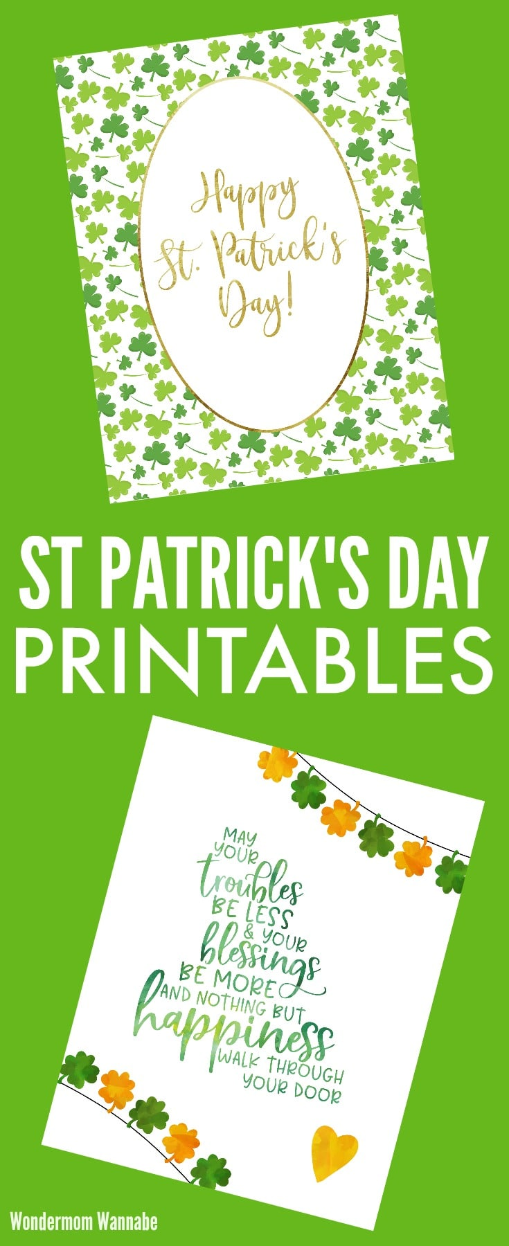 Two cheerful and festive St Patrick's Day printables #StPatricksDay #printables