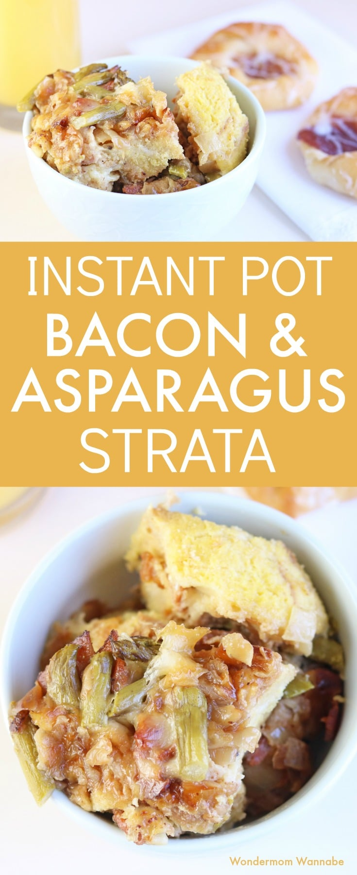Instant Pot Bacon and Asparagus Strata