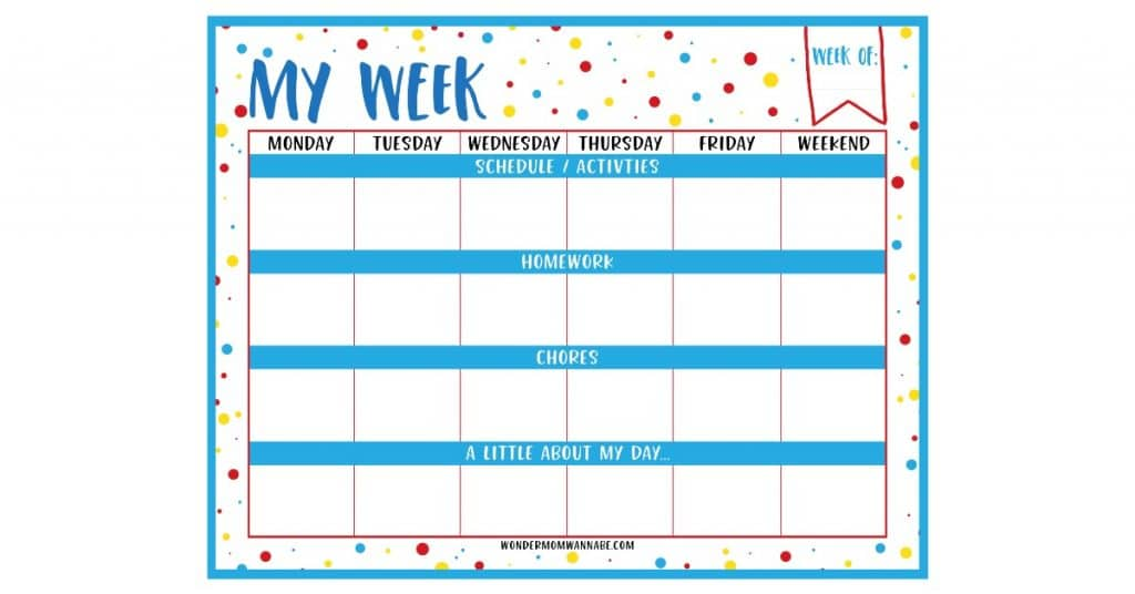 Homework Planner For Kids - 5 Homework Planners to Keep Kids Organised