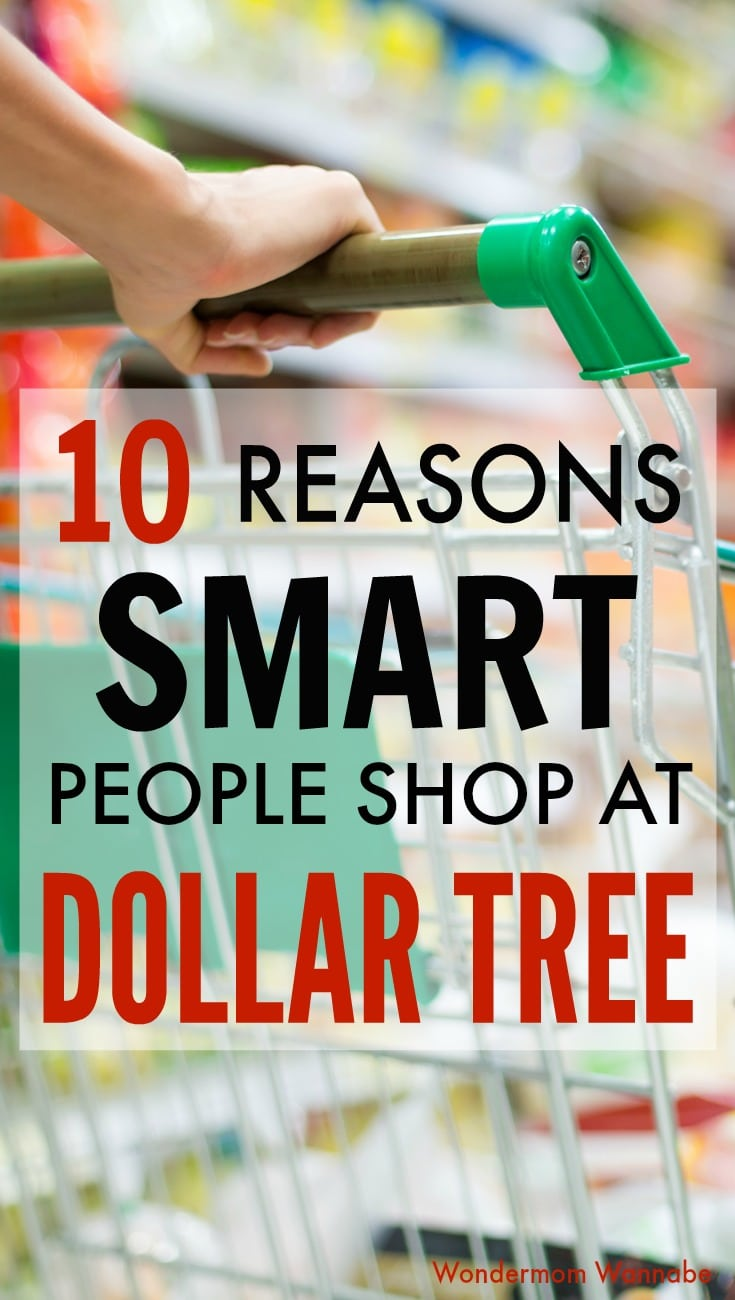 One of the best mom hacks is shopping at the Dollar Tree! Find out why and what you're missing if you aren't using this great resource. #shopping #savingmoney #momhacks via @wondermomwannab