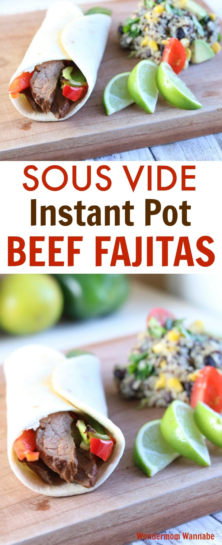 Once you've made Sous Vide Beef Fajitas in your Instant Pot, you may never be able to eat them any other way. Don't be afraid of this technique. It's easier than you think and the results are amazing! #instantpot #sousvide #texmex via @wondermomwannab