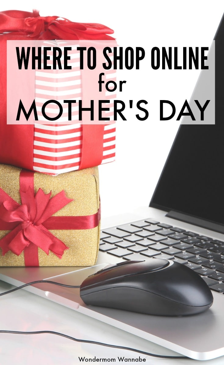 Great recommendations for where to shop online for unique Mother's Day gifts, plus how to save money on your purchases. #mothersday #shopping via @wondermomwannab