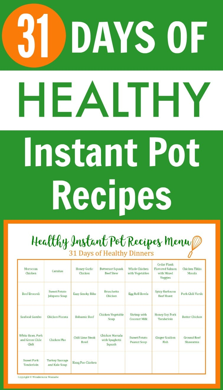 31 Days of Healthy Instant Pot Recipes