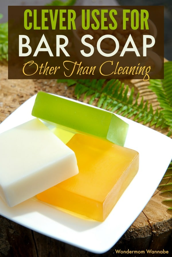 Did you know that bar soap is good for a lot more than cleaning? Check out all of these clever uses for bar soap. #lifehacks #barsoap via @wondermomwannab