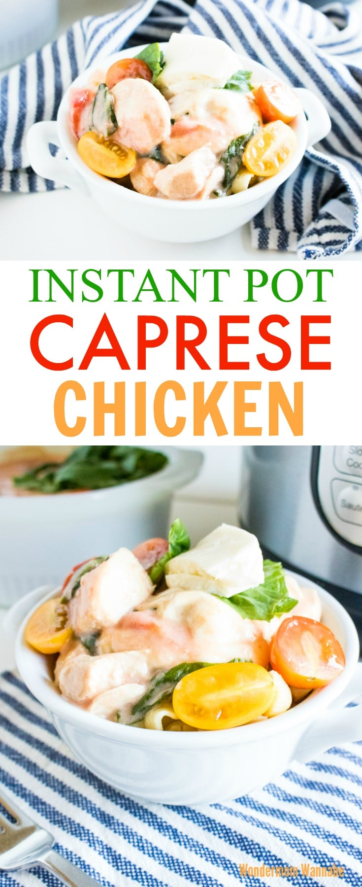 Instant Pot Caprese Chicken
