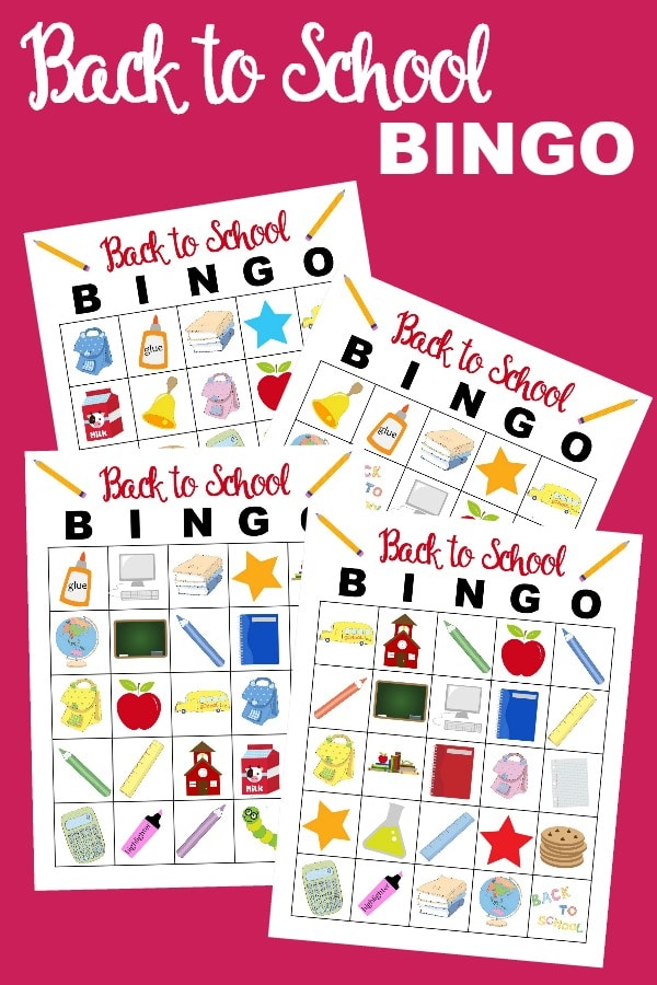 Back to School Bingo is a fun game for the whole family. This printable bingo game will help kids get ready to go back to school.