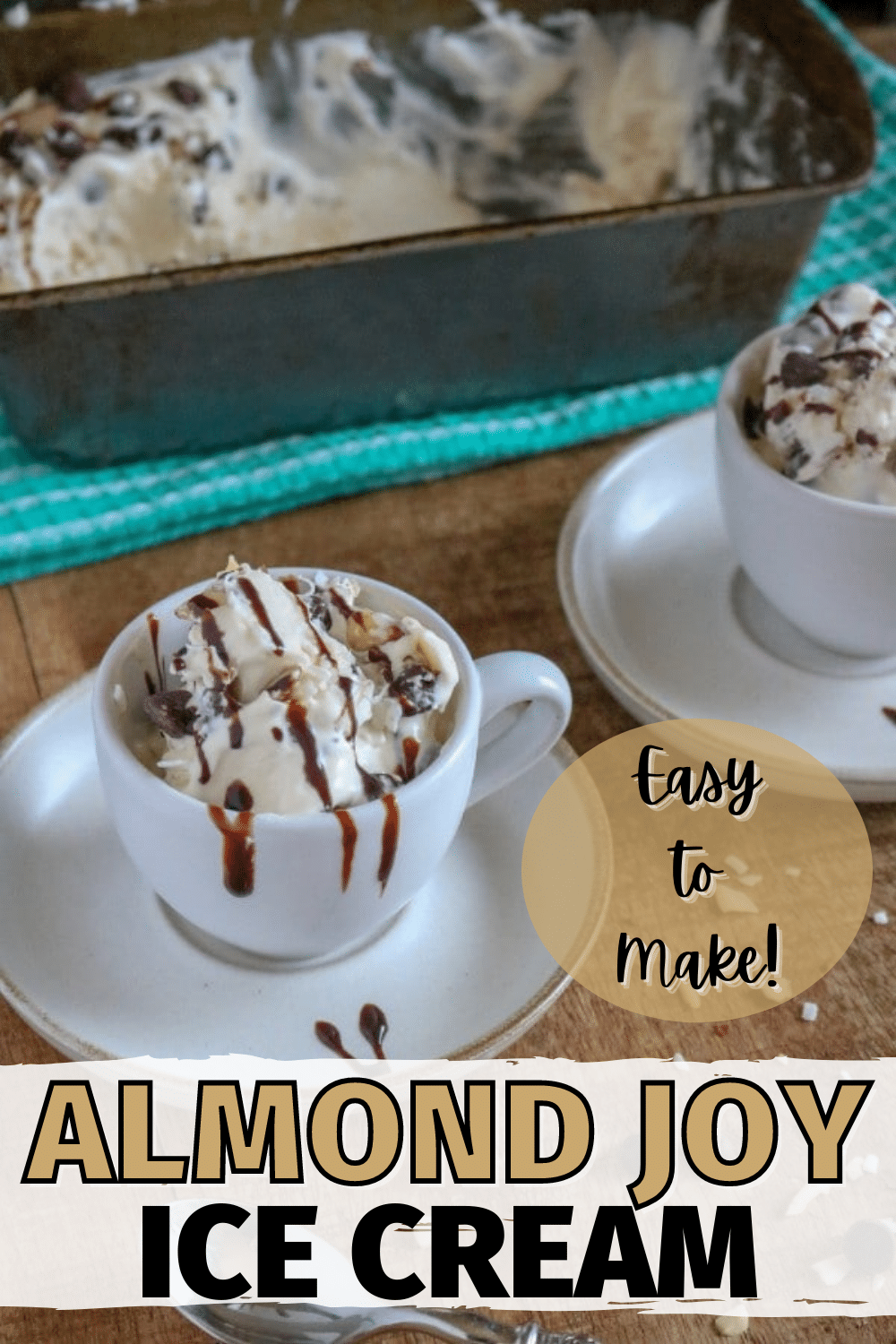 This EasyHomemade Almond Joy Ice Creamrecipe is a delicious combination of two desserts. It's perfect for anyone who loves Almond Joy and ice cream! #almondjoy #icecream #dessert via @wondermomwannab