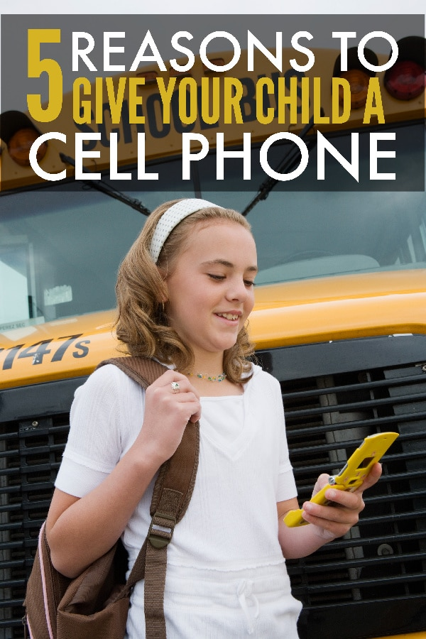 If you're concerned about the trend of kids and cell phones, consider these 5 benefits before deciding whether or not a phone is right for your child. #parenting #tweens #teens via @wondermomwannab