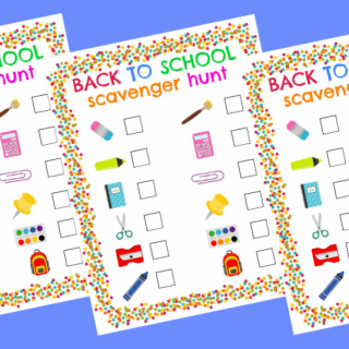 back to school scavenger hunt printable