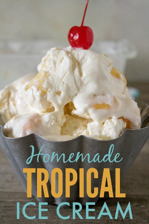 Homemade Tropical Ice Cream