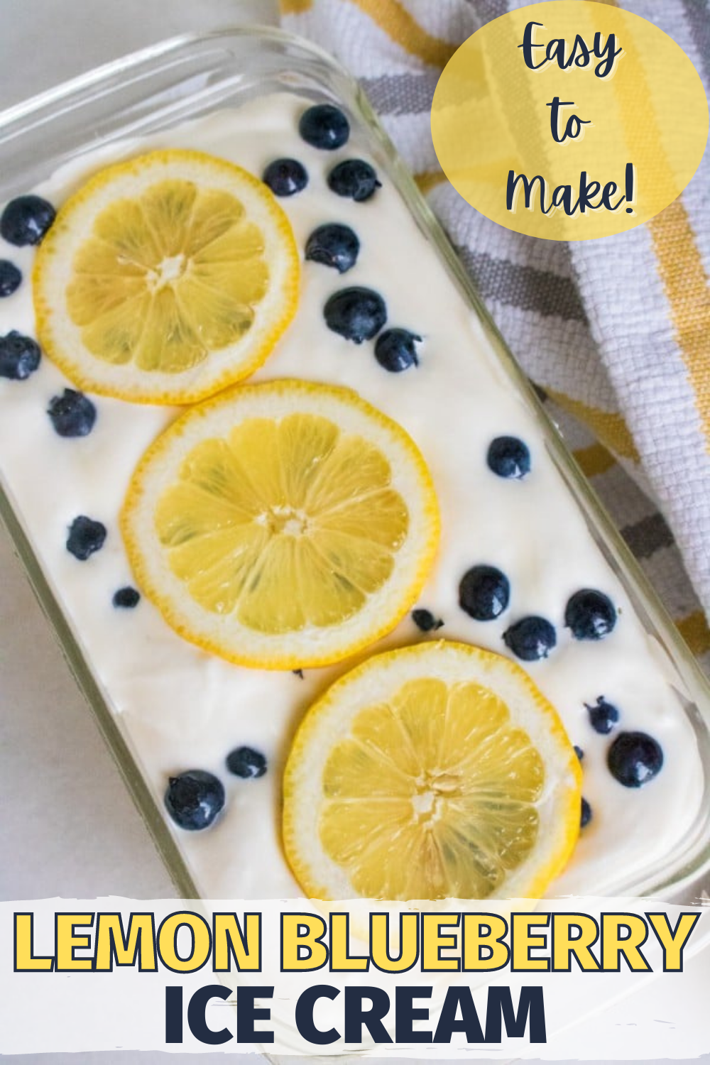 This Homemade Lemon Blueberry Ice Cream is so easy to make and the combination of flavors is delicious! #icecream #desserts via @wondermomwannab