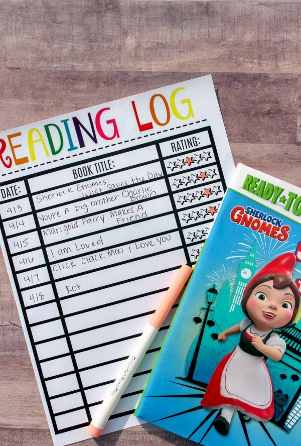 Printable Reading Log Book Ratings