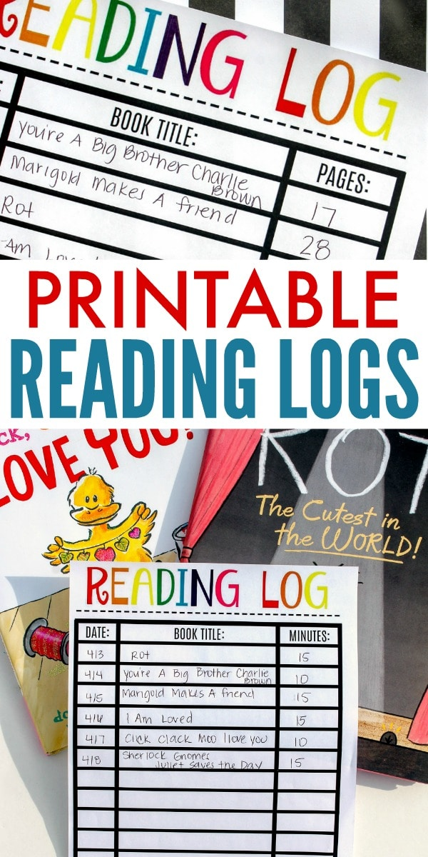 Free Printable Reading Logs