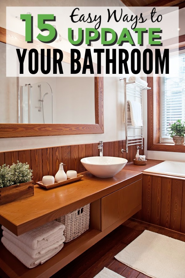 Super simple bathroom upgrades you can make in just a few minutes to completely update your bathroom without spending a fortune. #bathroom #homedecor via @wondermomwannab