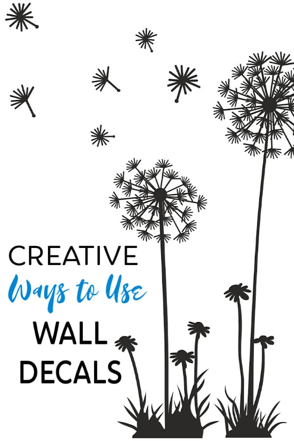 Wall decals are an easy, inexpensive way to decorate walls so why not do even more with them? Check out all of these alternative uses for wall decals! #homedecorating #clever #newuses   via @wondermomwannab