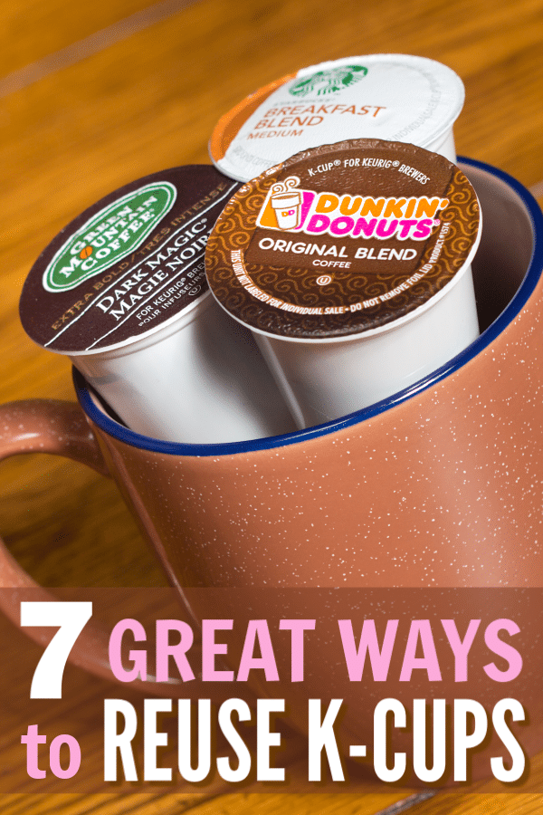 Don't throw those used k-cups away! Here are 7 clever ways to reuse k cups that put them to good, new uses! #repurpose #recycle #kcups via @wondermomwannab