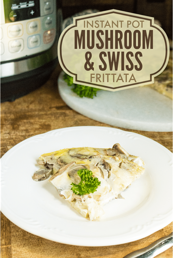 Instant Pot Mushroom and Swiss Frittata