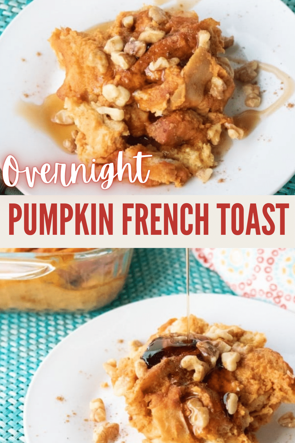 This Overnight Pumpkin French Toast is the perfect Fall breakfast when you're craving something flavorful and satisfying but want something easy. #makeahead #breakfast #pumpkin via @wondermomwannab
