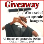 October Giveaway: Deluxe Wood Hangars