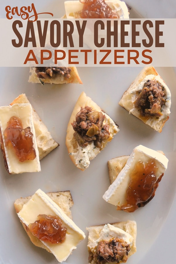 These savory cheese appetizers are so delicious and ridiculously easy to make! They're the perfect finger food for a party! #easyappetizers #cheese #fingerfood via @wondermomwannab