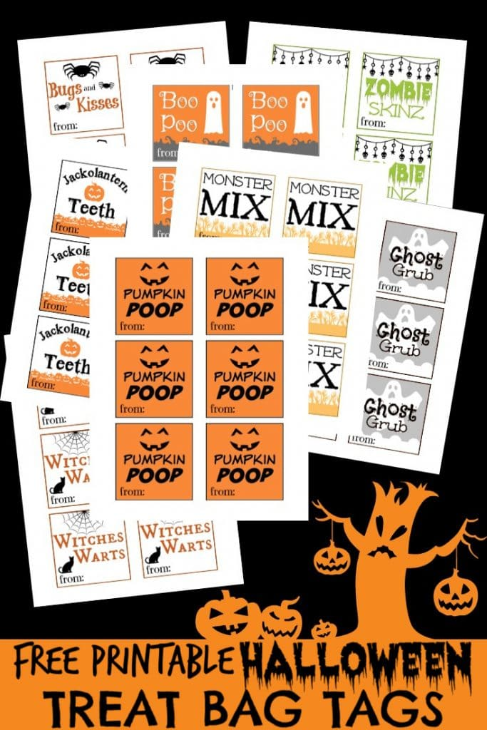 Free Printable Halloween Tags for Treat Bags