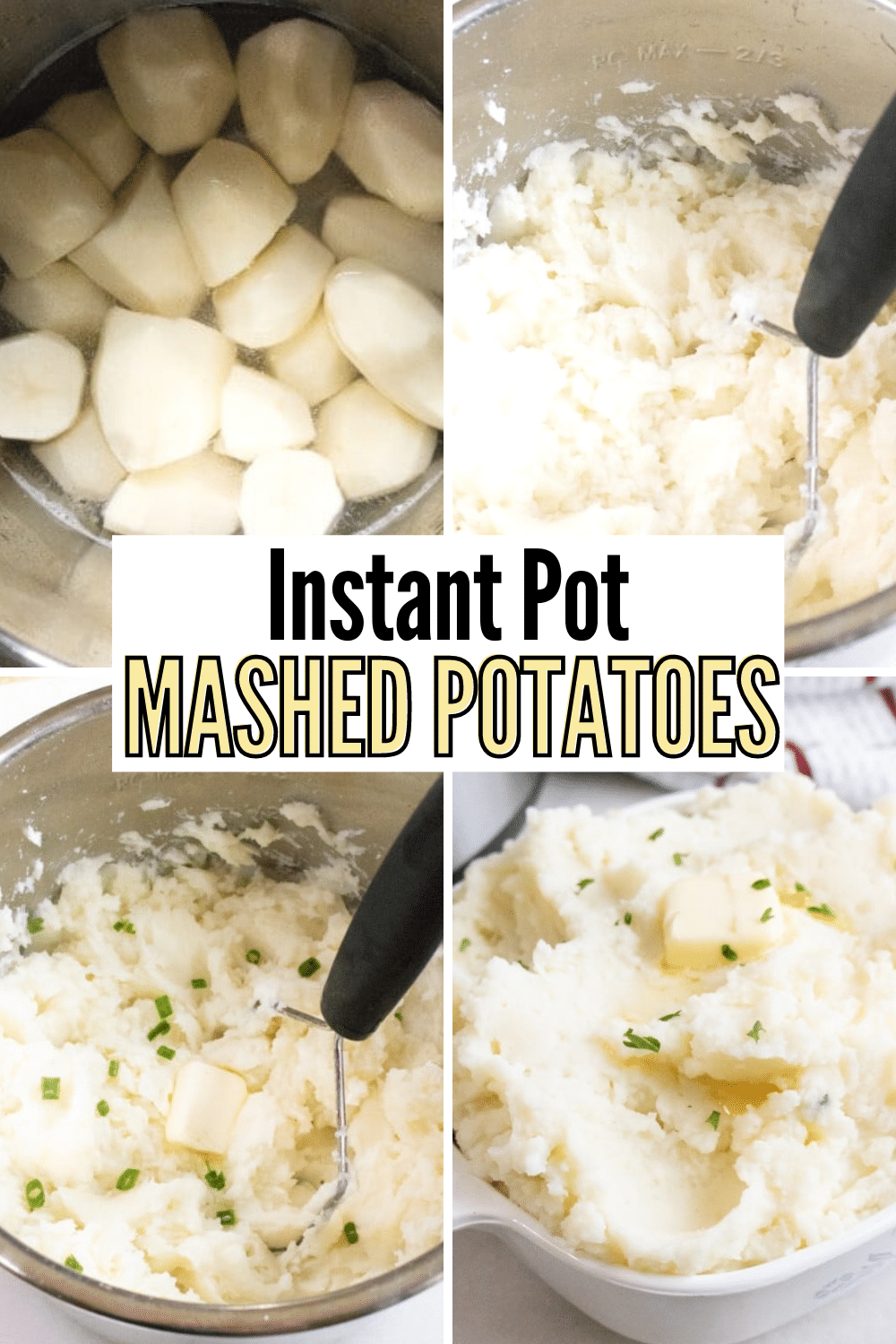 These Instant Pot Mashed Potatoes are faster and just as tasty as stovetop mashed potatoes. #sidedishes #potatoes #instantpot #pressurecooker via @wondermomwannab