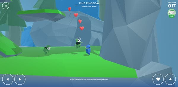 a screenshot of an online kids game with characters on a green and gray background