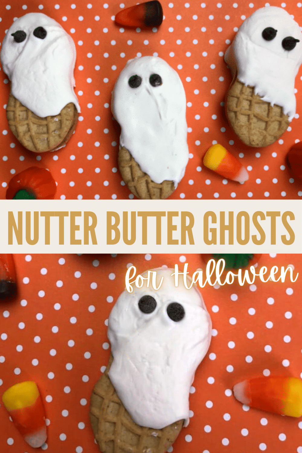I can't get over how cute these Nutter Butter Ghosts are and how easy they are to make! These are going to be a blast to make with the kids. #halloween #funfoodforkids #easytreats via @wondermomwannab