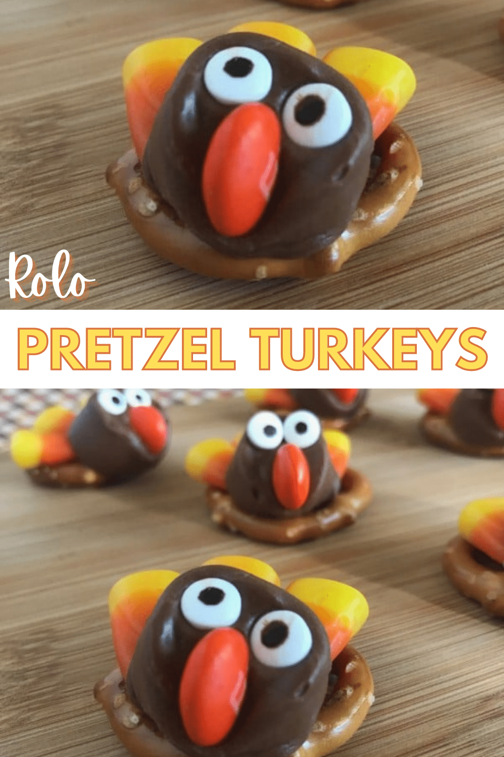 How cute are these Rolo Pretzel Turkeys?! And they're so easy to make! #Thanksgiving #funfood via @wondermomwannab
