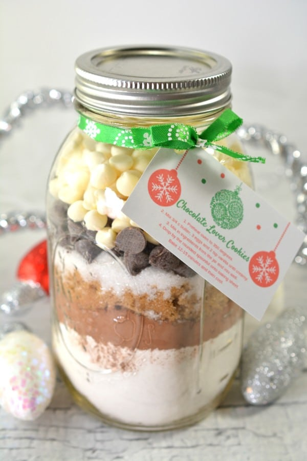 Chocolate Lover Cookie Mix in a Jar Gift