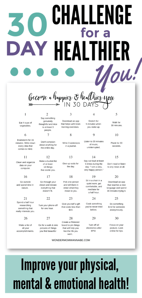 30-Day Challenge for a Healthier You