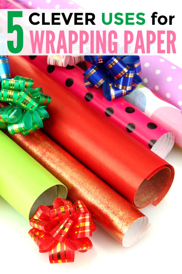 Don't throw that leftover wrapping paper away! Before you toss it in the recycling bin, try one of these clever uses for wrapping paper. #repurpose #upcycle #newusesoldthings via @wondermomwannab