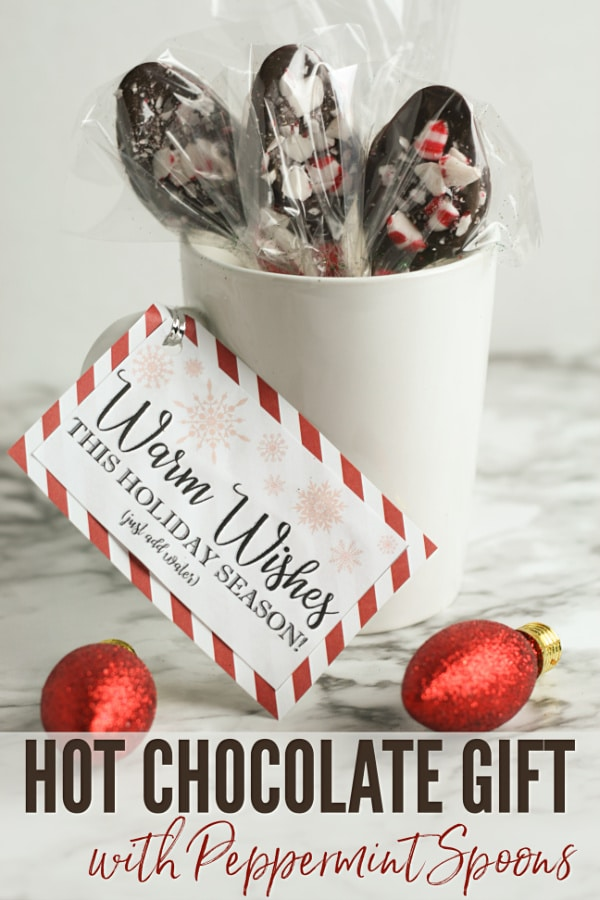 DIY Hot Chocolate Gift with Peppermint Spoons