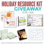 November Giveaway: Holiday Printables and Ebook Set