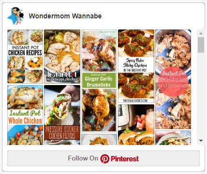 screenshot of Wondermom Wannabe's instant pot chicken recipes Pinterest board