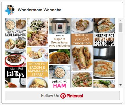 screenshot of wondermom wannabe's instant pot pork recipes board on pinterest
