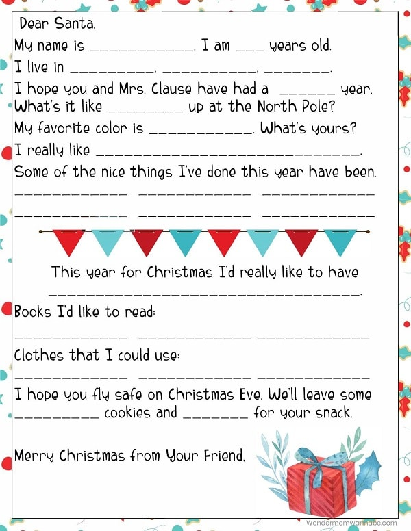 photograph regarding Santa List Printable known as Printable Letter in direction of Santa