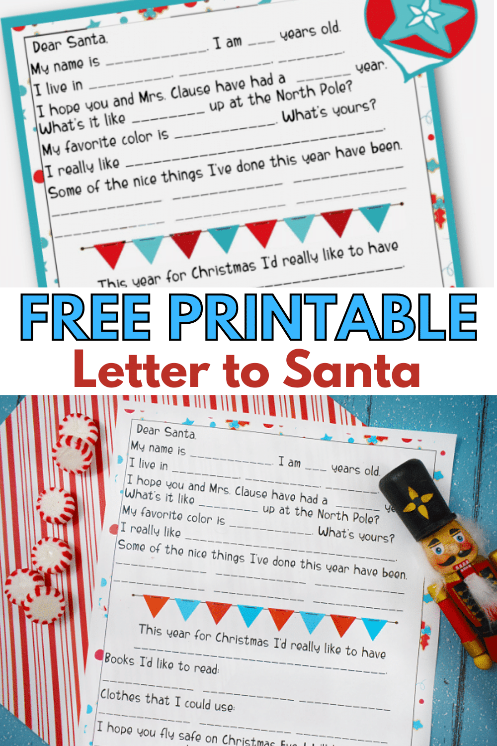 This free printable letter to Santa is not only perfect for gathering your child's Christmas wish list, but also for reinforcing good habits and behaviors. Plus, it makes a great keepsake! #LetterToSanta #printable via @wondermomwannab