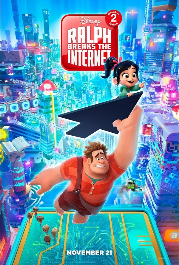 a graphic of Disney's Ralph Breaks the Internet