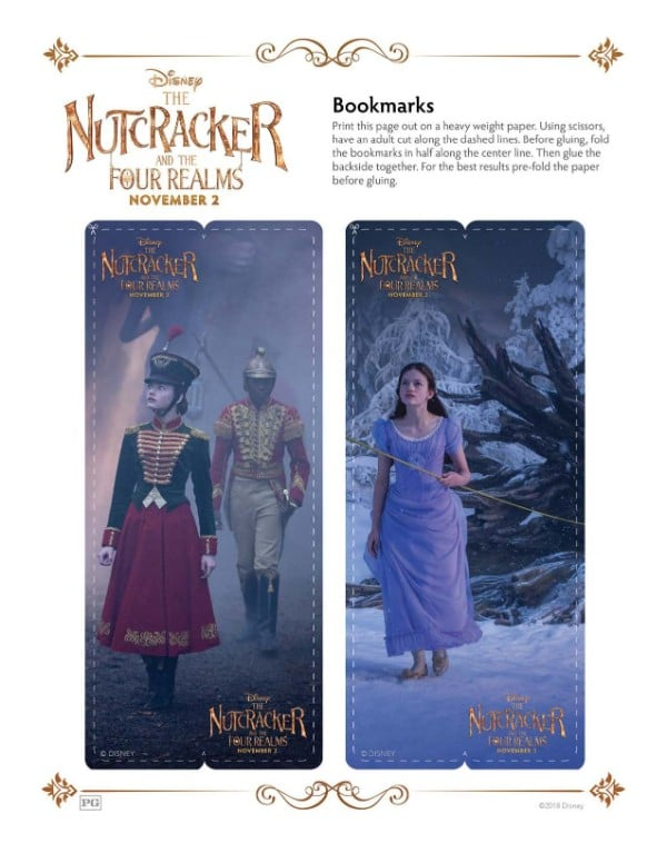 Printable Nutcracker bookmarks